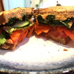 Vegetarian Hummus Sandwich